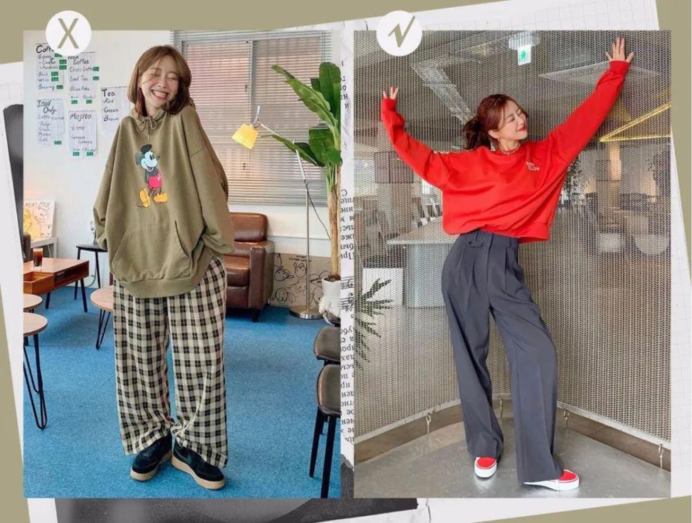 卫衣最丑的4种搭配,这样很容易穿出大妈感