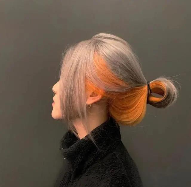"""别再染黄头发了,2021年即将大火的""""拼色染发"""""""