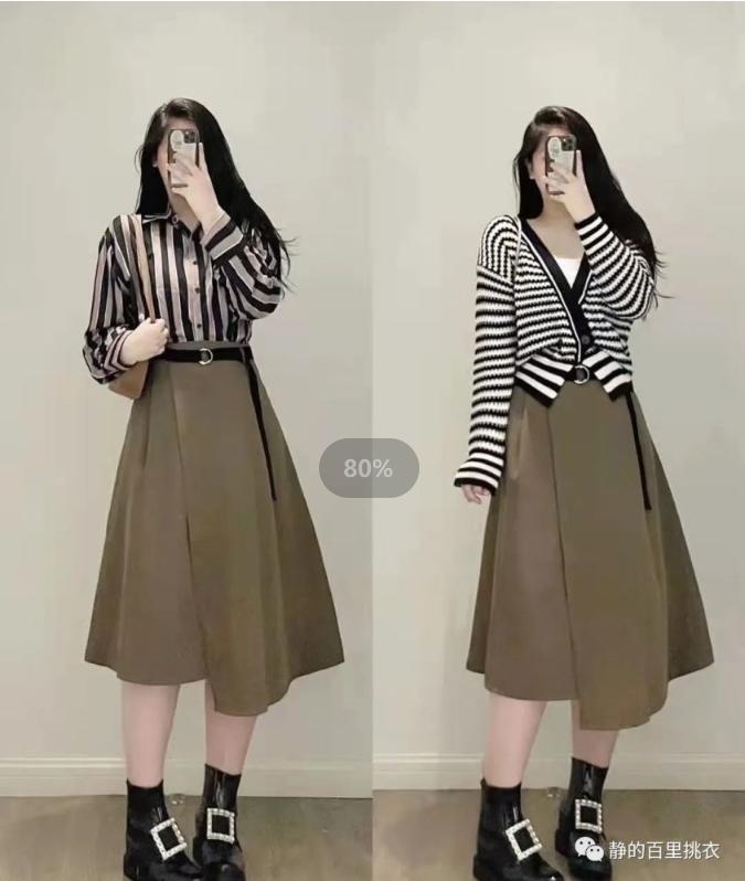微胖女人的秋日搭配:穿得越简单越能保持一种清爽感